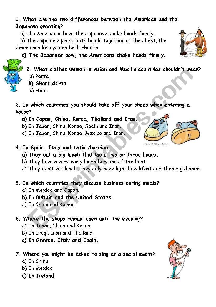medium resolution of Quiz good manners - ESL worksheet by mojcafurlan
