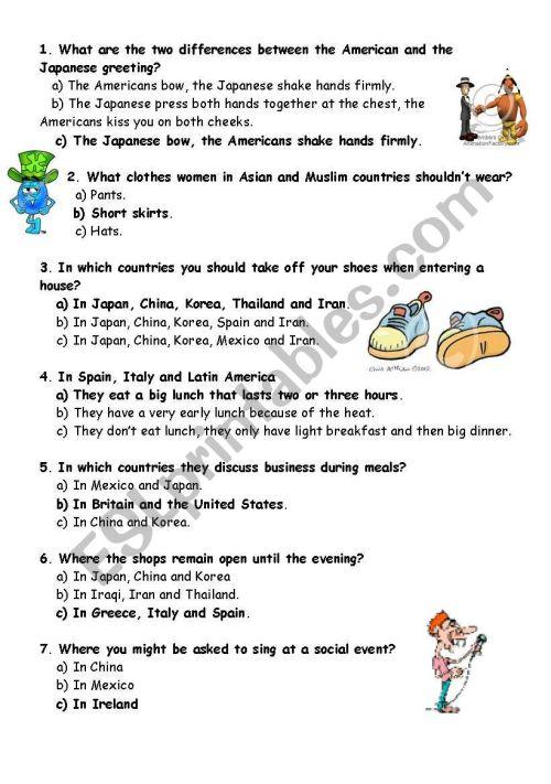 small resolution of Quiz good manners - ESL worksheet by mojcafurlan