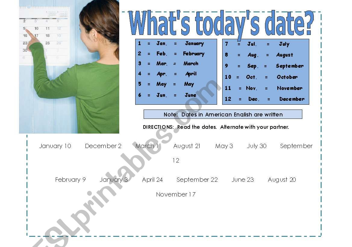 Partner Practice How To Read Dates Practicing Th