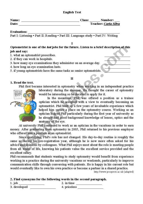 small resolution of 11th Grade test - ESL worksheet by carlaaguiarsilva