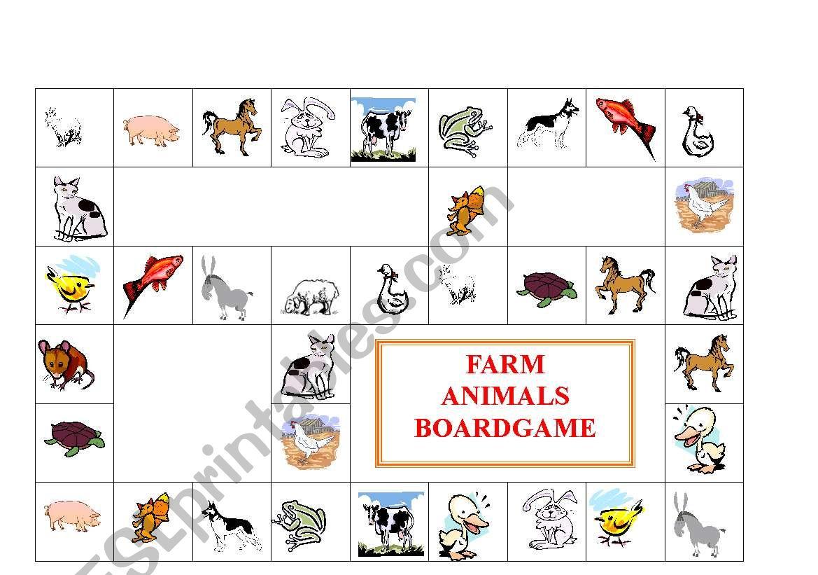 Farm Animals Boardgame