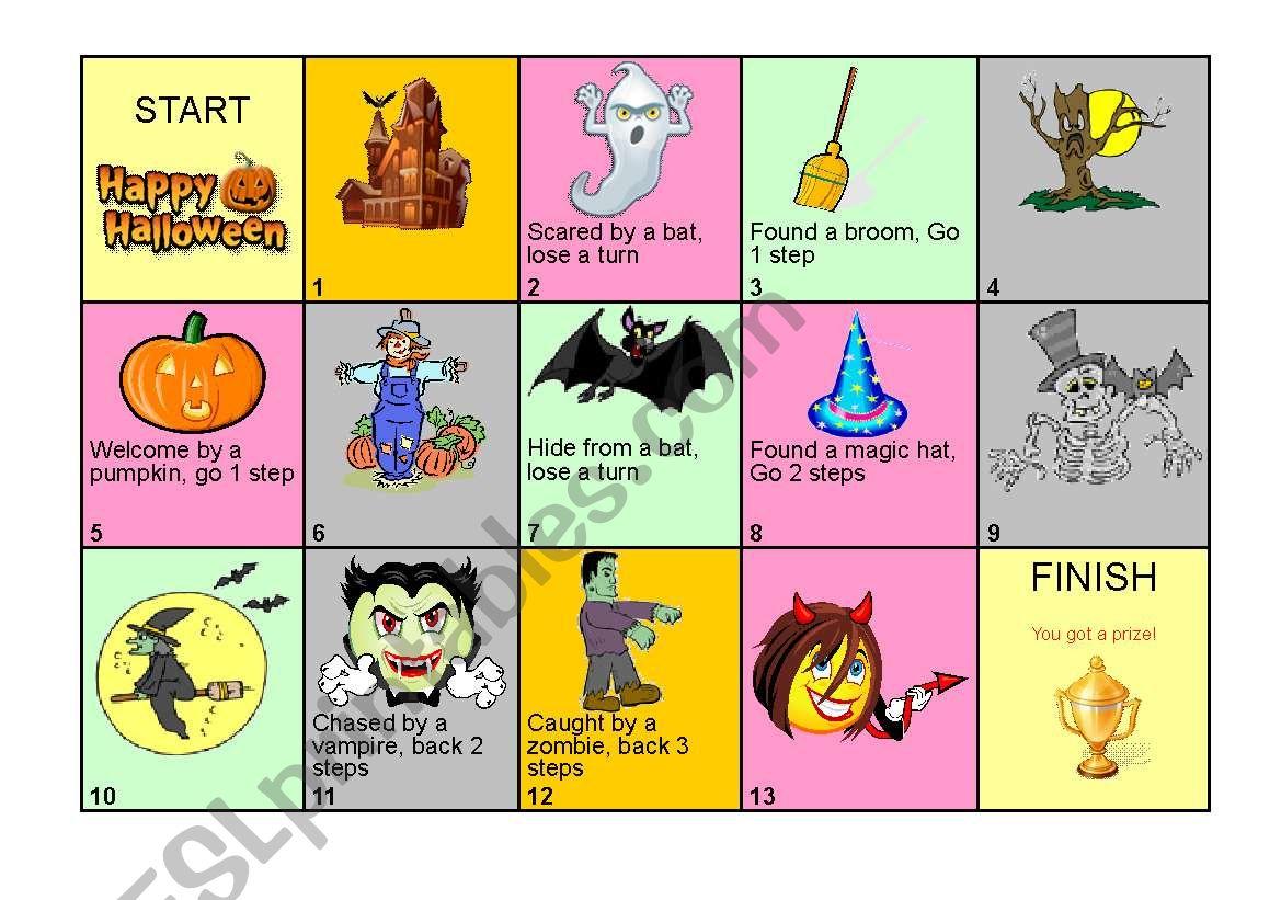 Halloween Board Game