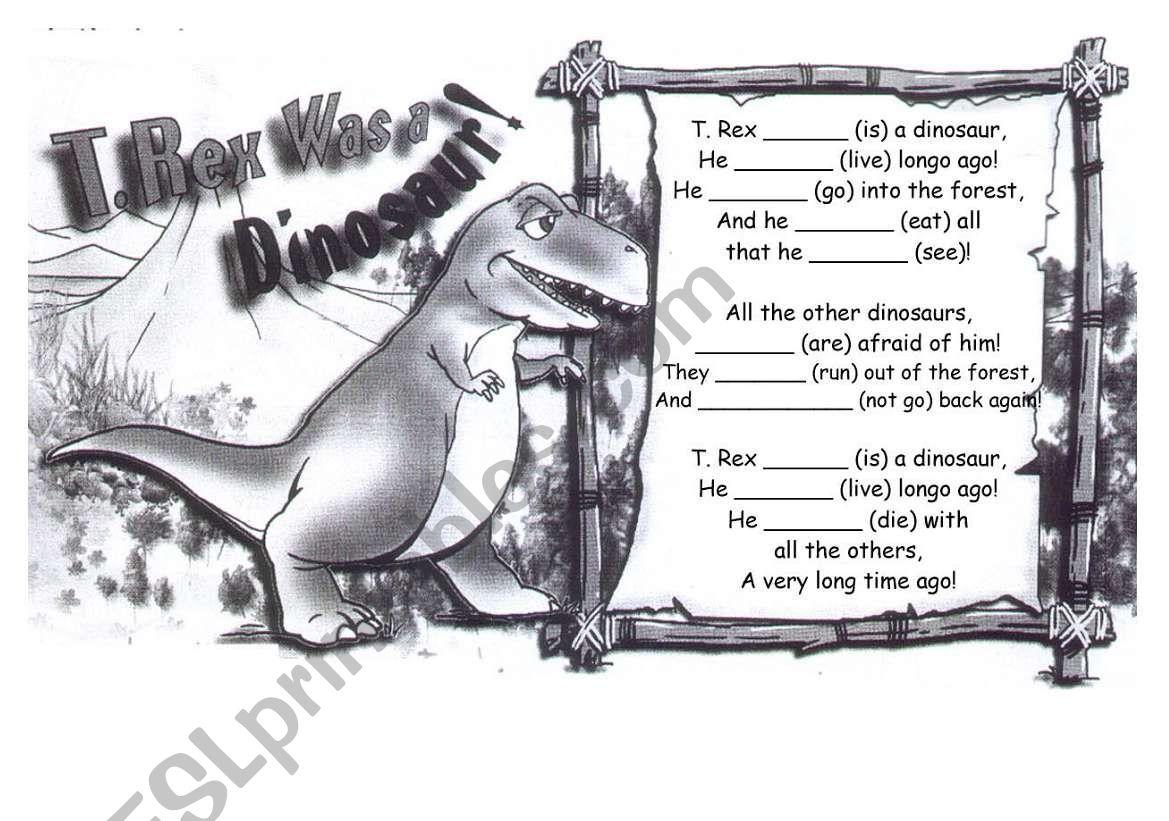 Past Simple Dinosaur