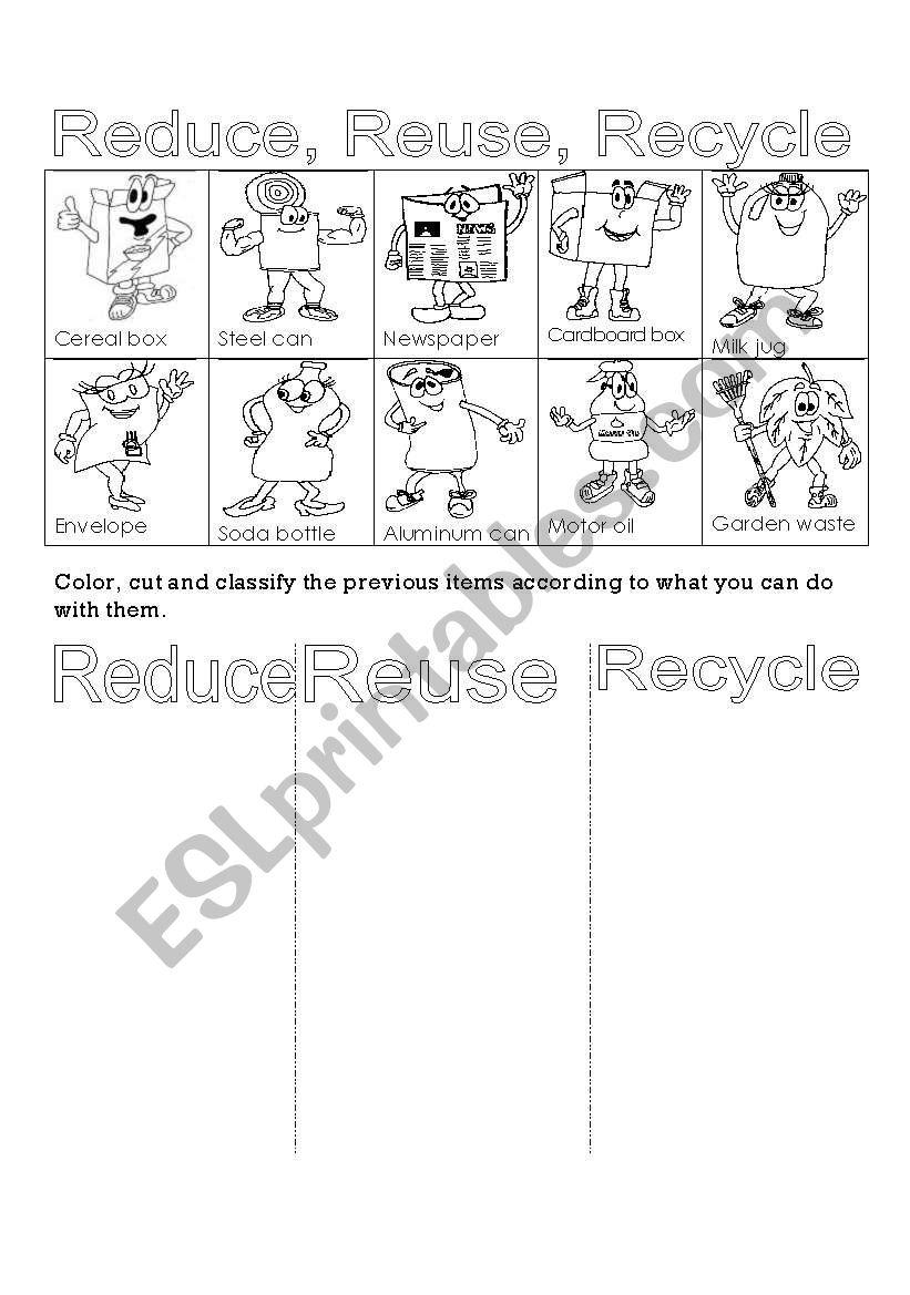 medium resolution of 32 Reduce Reuse Recycle Worksheet - Worksheet Project List