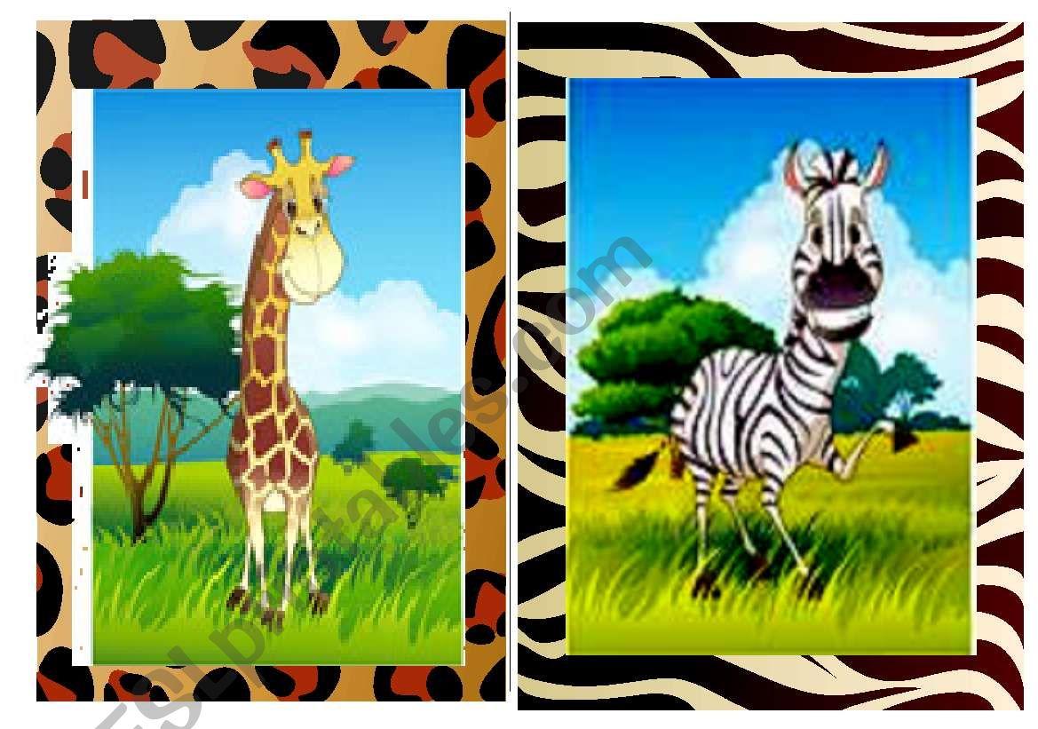 Flashcards Wild Animals 1 2