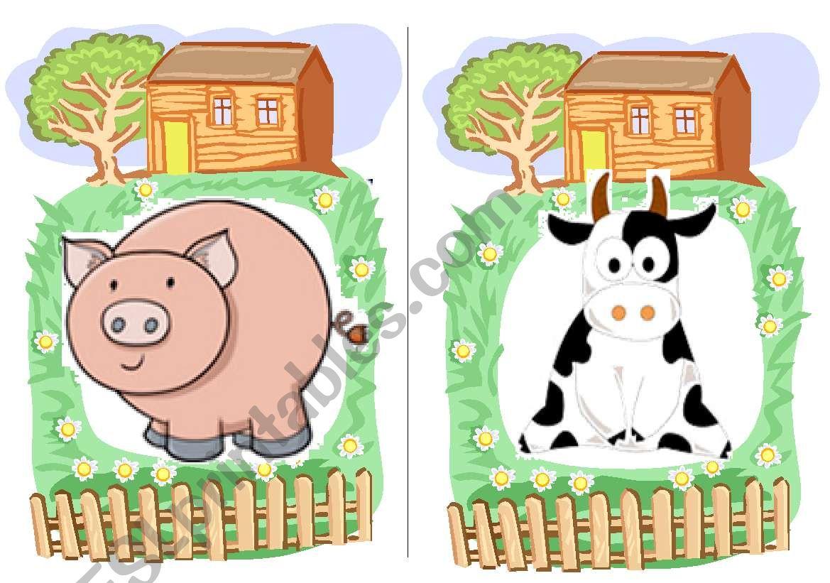 Farm Animals Flashcards 2