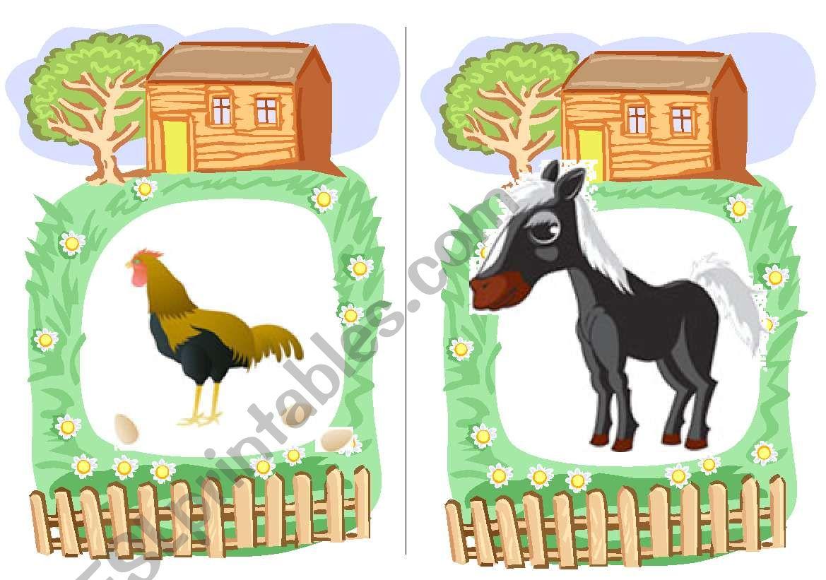 Farm Animals Flashcards 3