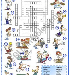 Jobs crossword (1 of 3) - ESL worksheet by mpotb [ 1169 x 821 Pixel ]