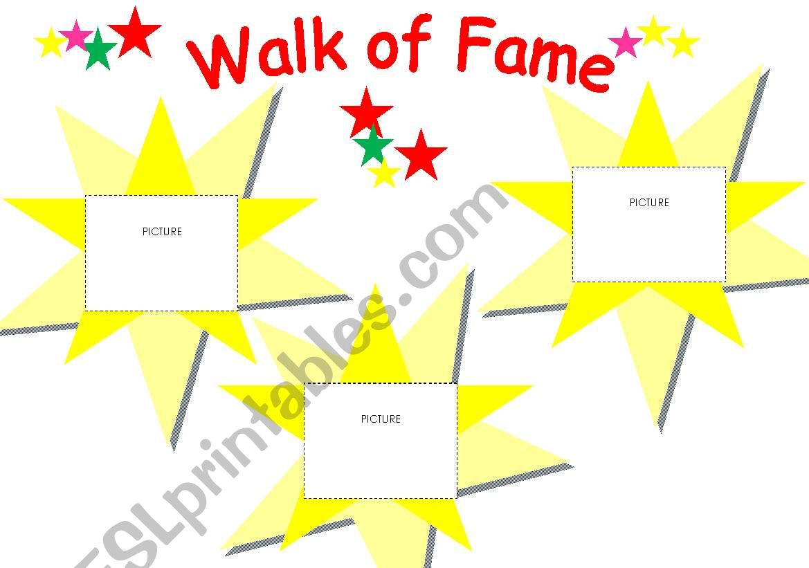 English Worksheets Walk Of Fame