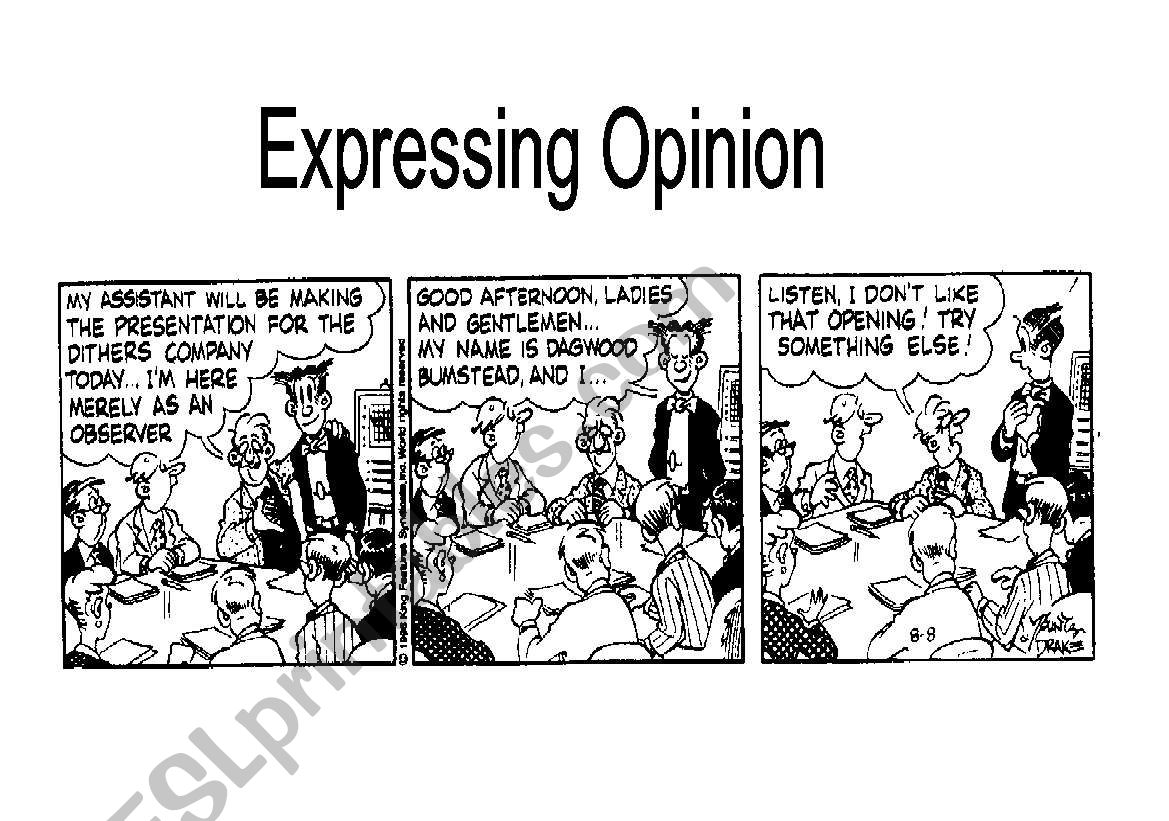 Expressing A Personal Point Of View