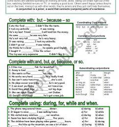 Conjunctions - ESL worksheet by venezababi [ 1169 x 821 Pixel ]