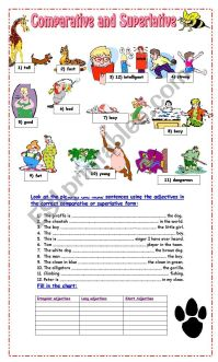 Comparative and Superlative Exercises - ESL worksheet by ...