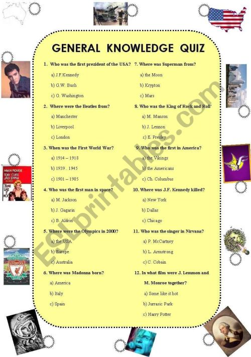 small resolution of General knowledge quiz (was