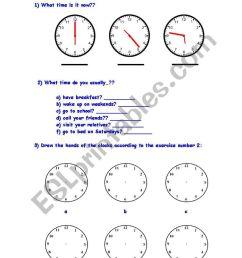 Telling time - ESL worksheet by kkl_br [ 1169 x 821 Pixel ]