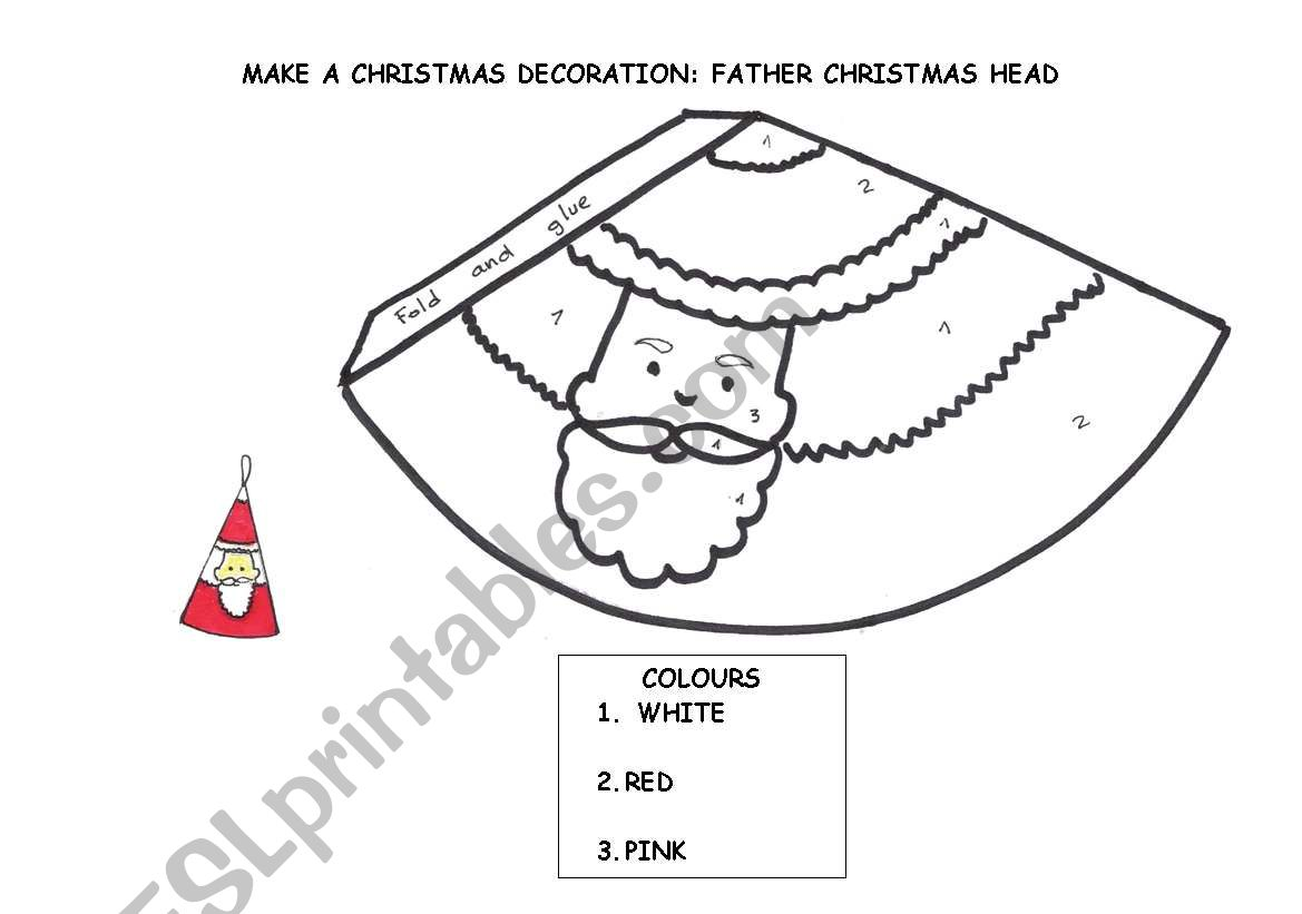 Make A Christmas Decoration Father Christmas Head