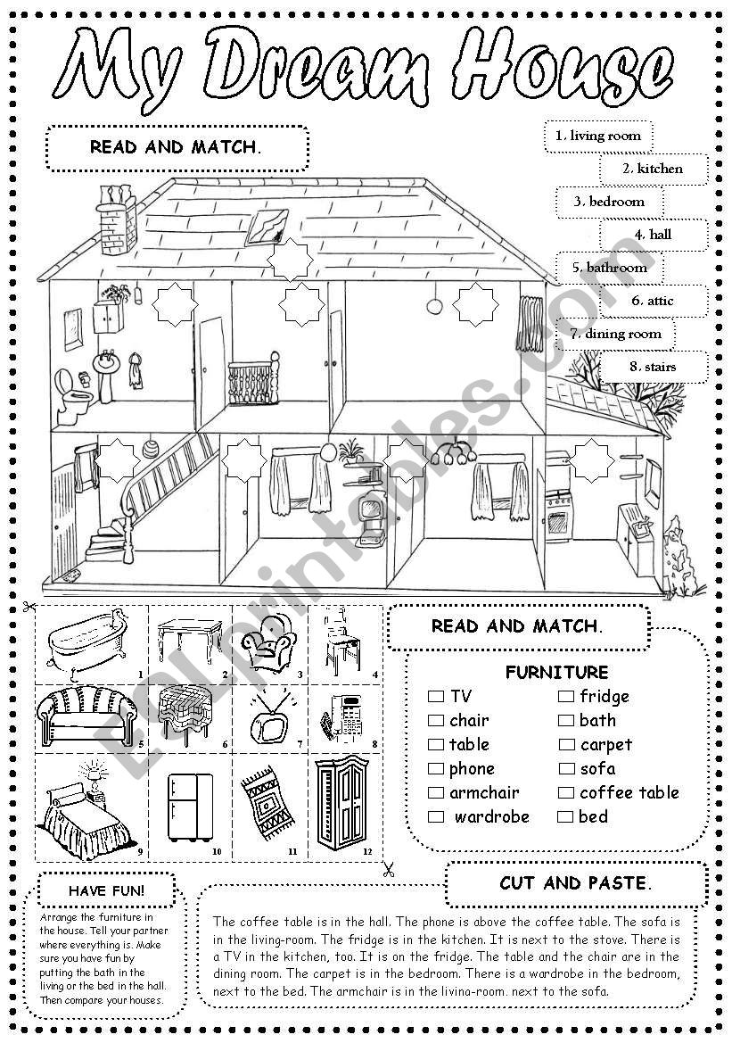 Minimalist House Design: Design Your Dream House Worksheet