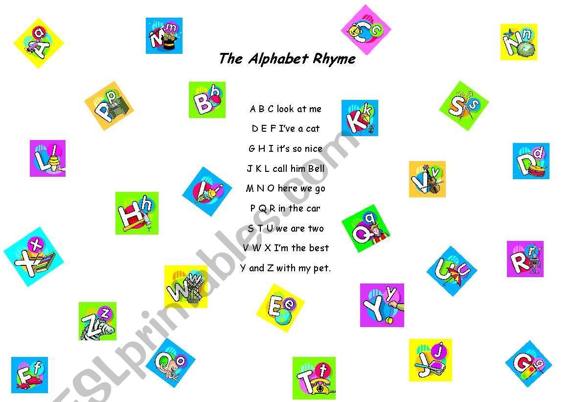 Tha Alphabet Rhyme