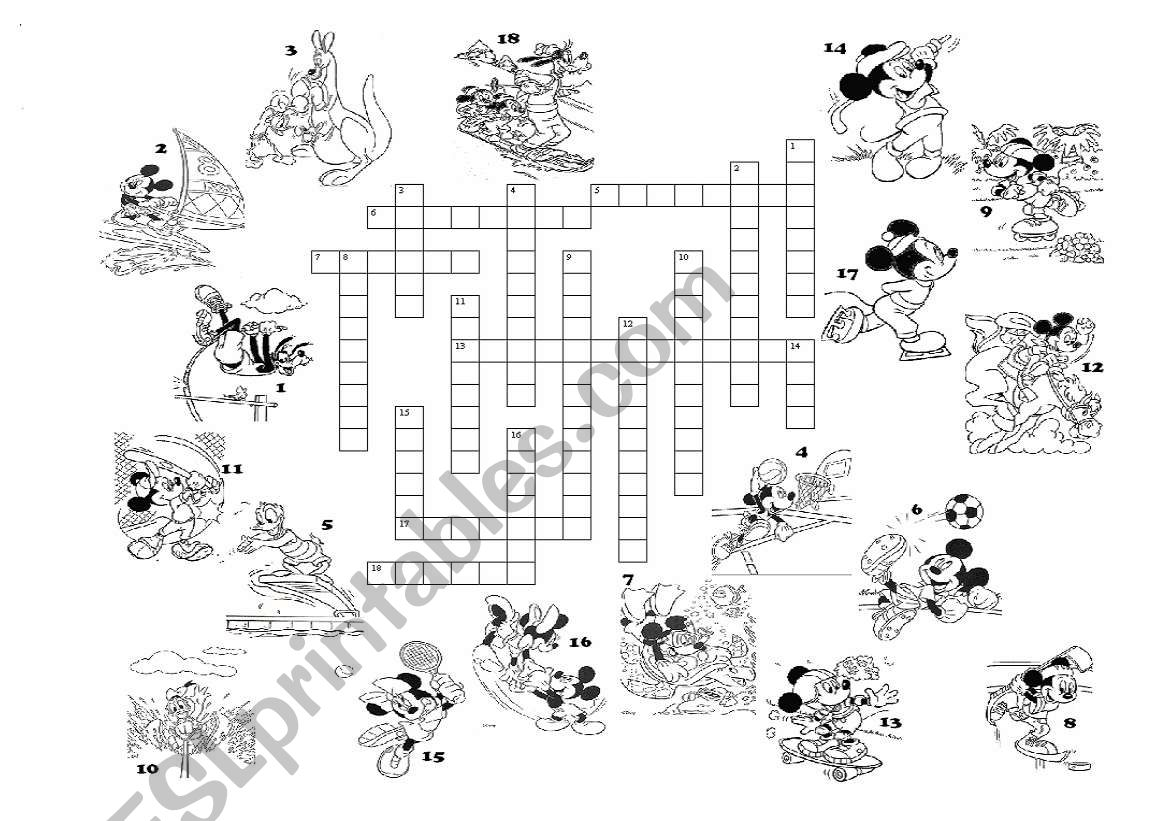 Sports Crossword With A Key