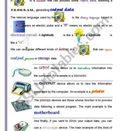 PART I/2 )Computer Basics: Getting familiarized with Computers (For  Children and adults) ICT - ESL worksheet by jtdr [ 1169 x 821 Pixel ]