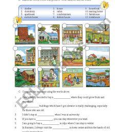 Types of Housing - ESL worksheet by miameto [ 1169 x 821 Pixel ]