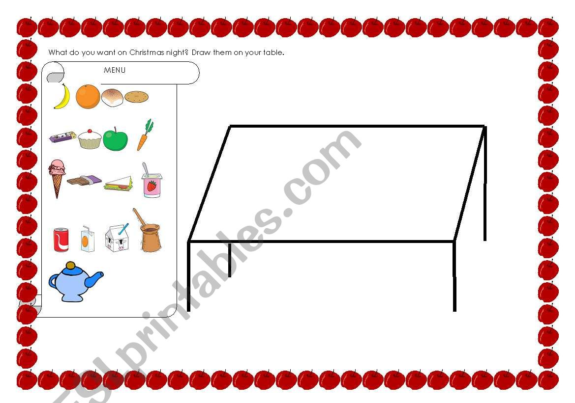 English Worksheets Food And Drinks
