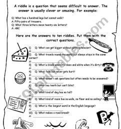 Anagram Riddles Worksheet   Printable Worksheets and Activities for  Teachers [ 1169 x 821 Pixel ]