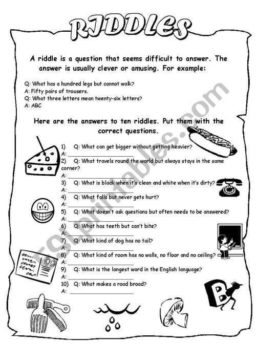 small resolution of Anagram Riddles Worksheet   Printable Worksheets and Activities for  Teachers