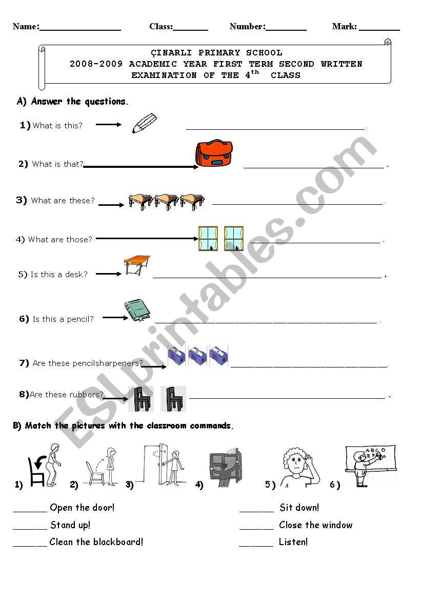 hight resolution of Determiners/Numbers/Family/Commands/Have got - ESL worksheet by sedefgül
