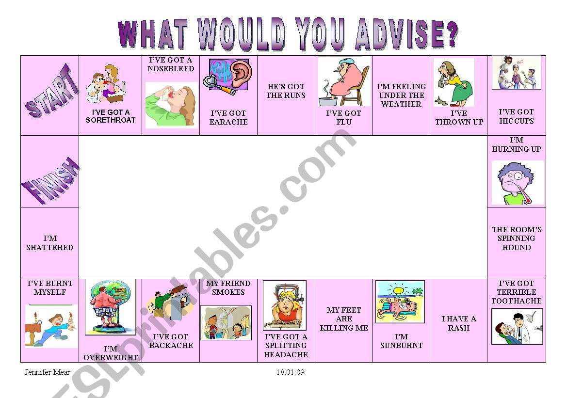 Giving Advice Boardgame