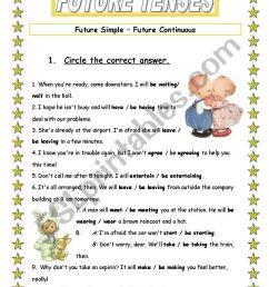 Future tenses - ESL worksheet by Ania Z [ 1169 x 821 Pixel ]