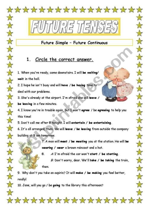 small resolution of Future tenses - ESL worksheet by Ania Z