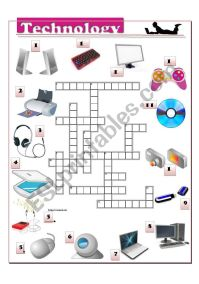 Technology crossword - ESL worksheet by andreaewa