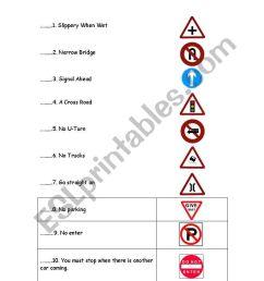 Traffic signs - ESL worksheet by samantaesl [ 1169 x 821 Pixel ]