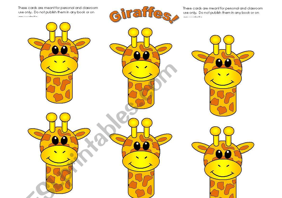 Giraffe Cards Add You Own Text Use Them With My Giraffe