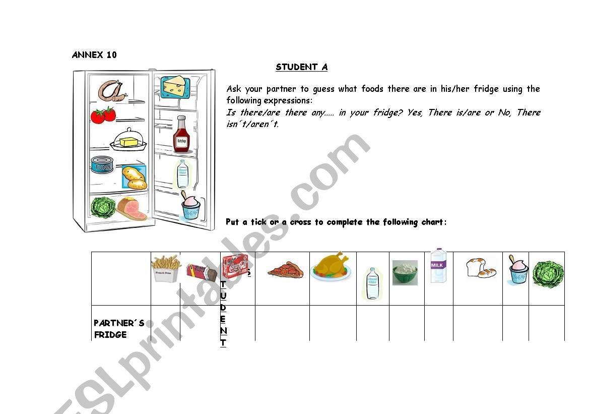 Information Gap Activity Food