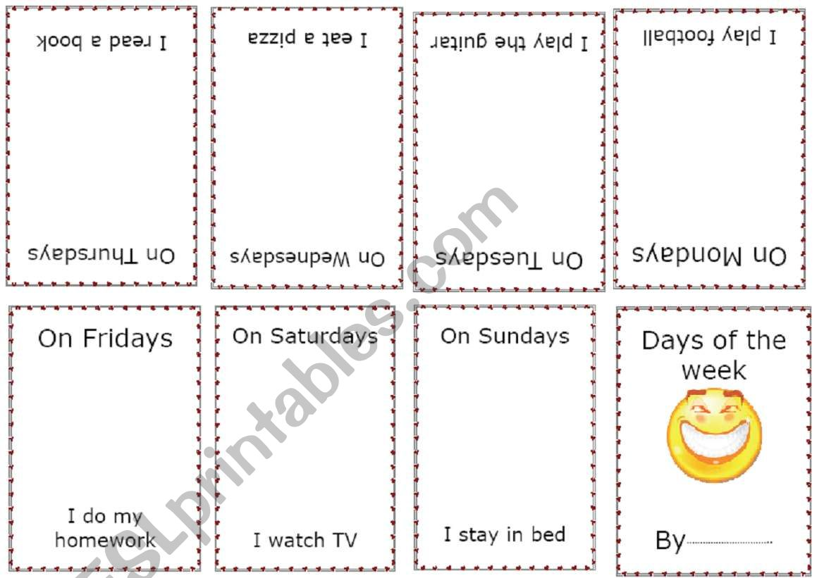 Days Of The Week Minibook