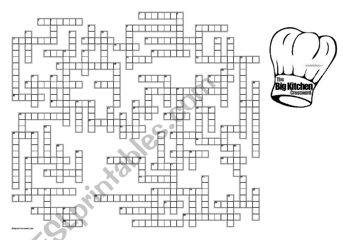 The Big Kitchen Crossword