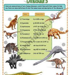 dinosaurs fact worksheet SET 1 (3 pages) - ESL worksheet by jamiejules [ 1169 x 821 Pixel ]