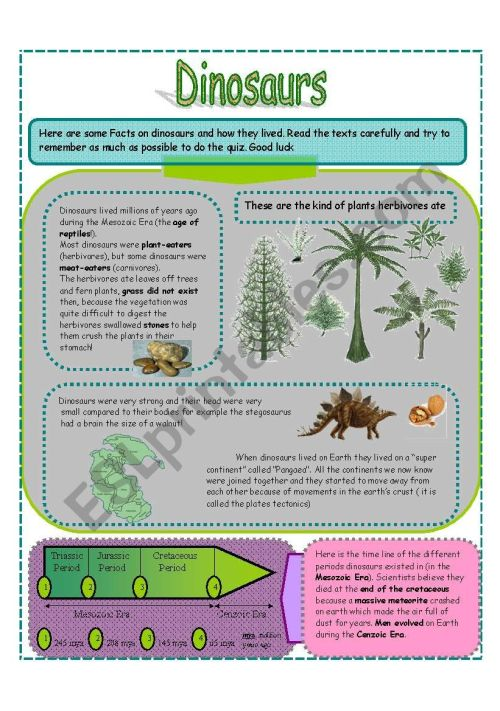 small resolution of Dinosaurs SET 2 (3 pages) - ESL worksheet by jamiejules