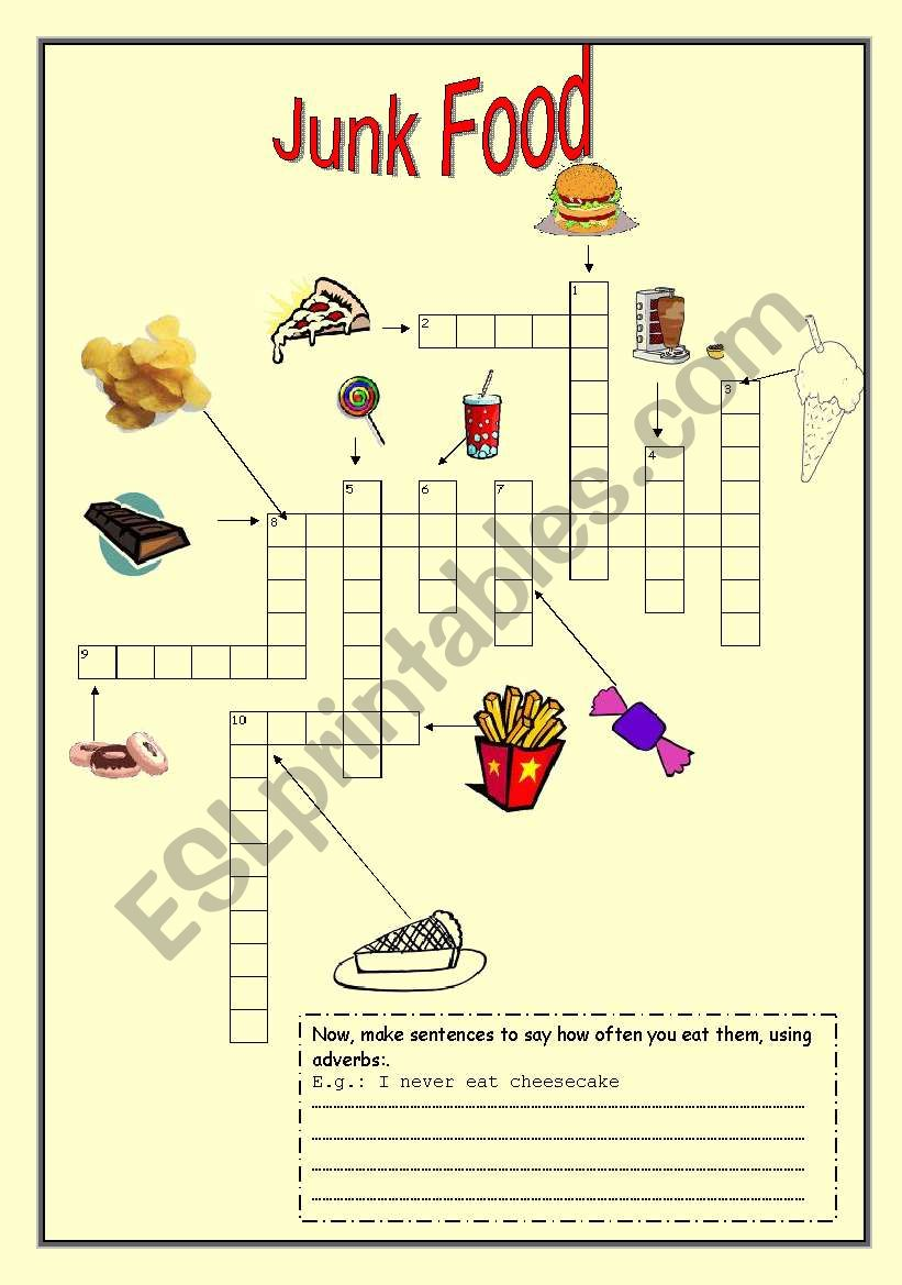 Junk Food Crossword