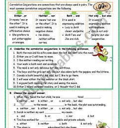 Correlative Conjunctions Exercises With Answers Pdf - Exercise Poster [ 1169 x 821 Pixel ]