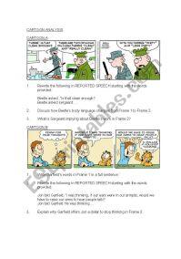 Cartoon Analysis - ESL worksheet by joalkaster
