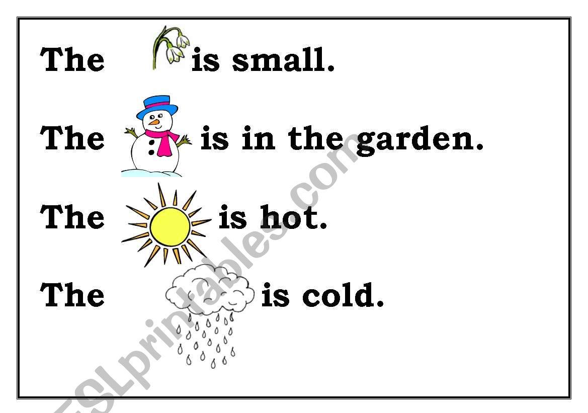 English Worksheets Nature Words