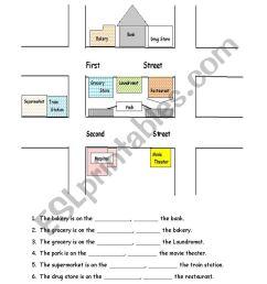 Giving Directions - ESL worksheet by christineyez [ 1169 x 821 Pixel ]