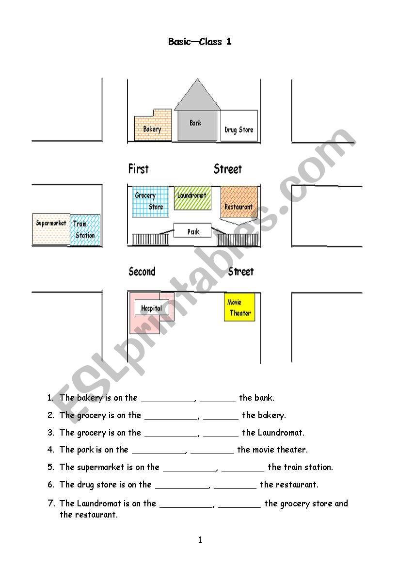 medium resolution of Giving Directions - ESL worksheet by christineyez