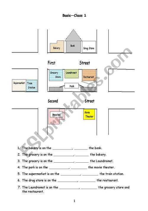 small resolution of Giving Directions - ESL worksheet by christineyez