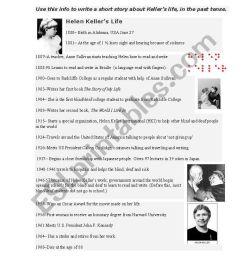 Helen Keller´s Life- Timeline - ESL worksheet by sallysally [ 1169 x 821 Pixel ]