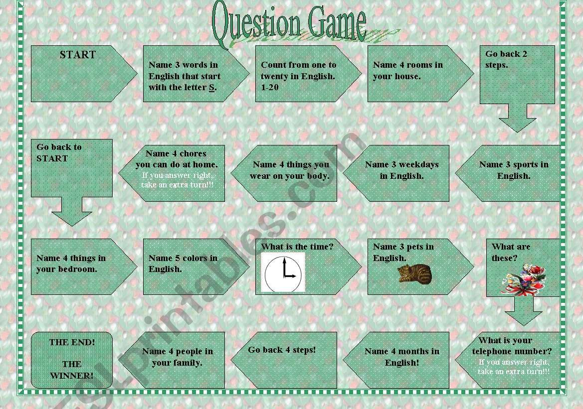 The Question Game For The Younger Learners