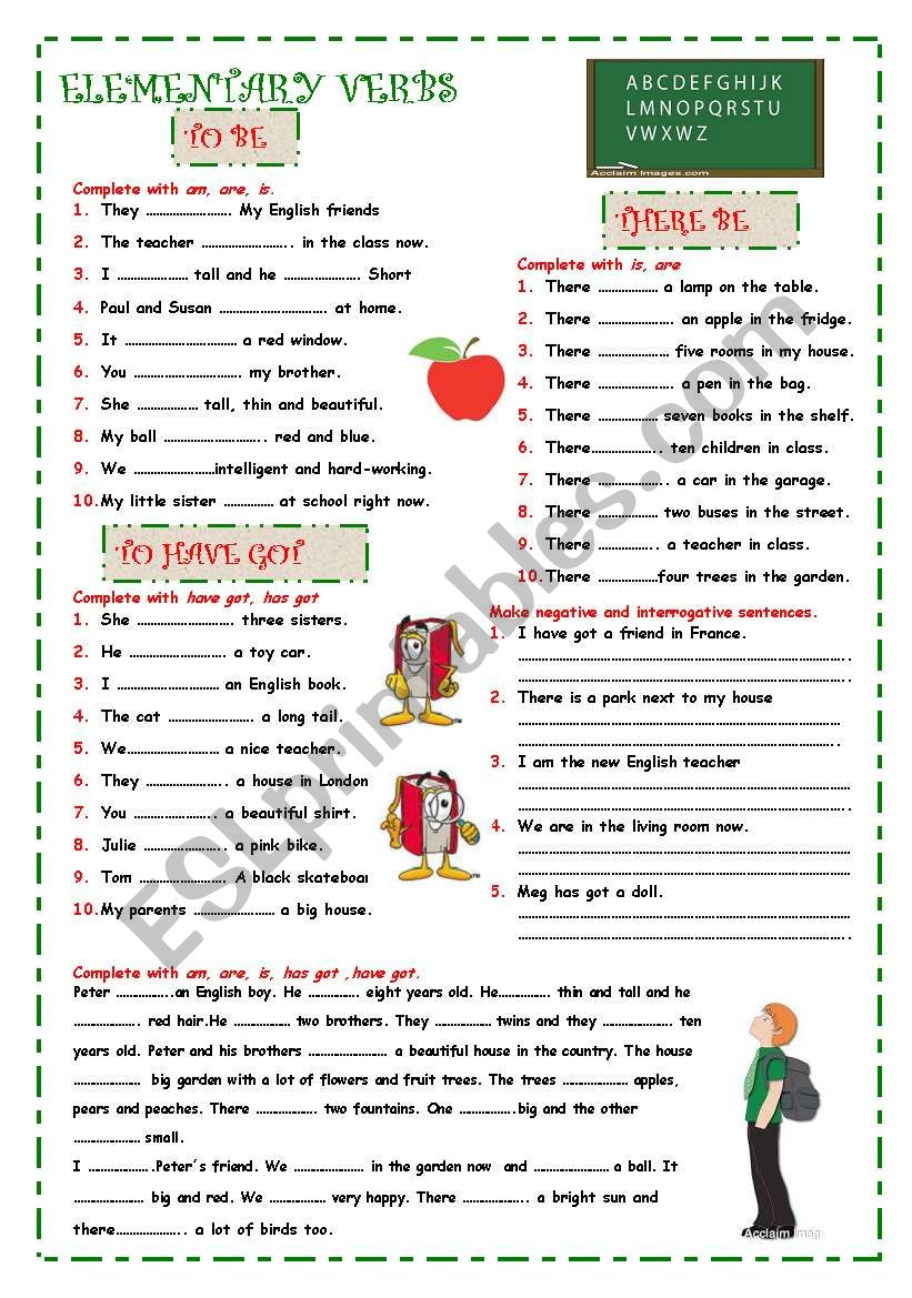 medium resolution of Auxiliary verbs - ESL worksheet by ana m