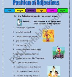 Coordinating Adjectives Worksheet   Printable Worksheets and Activities for  Teachers [ 1169 x 821 Pixel ]